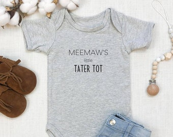 Meemaw's Little Tater Tot | Grandma | Southern | Country | Pregnancy Announcement | Specialty Ethnic Onesie | Espea