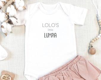 Lolo's Little Lumpia | Grandpa | Tagalog | Filipino | Philippines | Pregnancy Announcement | Specialty Ethnic Onesie | Espea