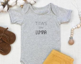 Tita's Little Lumpia | Aunt | Auntie | Tagalog | Filipino | Philippines | Pregnancy Announcement | Specialty Ethnic Onesie | Espea