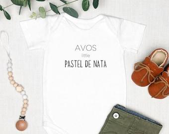 Avos Little Pastel De Nata | Grandma Grandpa | Portuguese | Portugal | Pregnancy Announcement | Specialty Ethnic Onesie | Espea