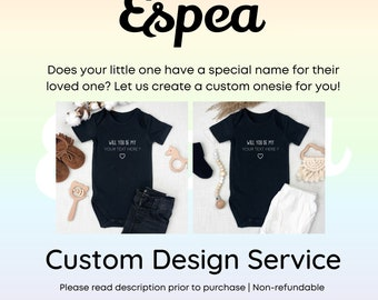 Custom Design Service for a Little Questions Co. Onesie