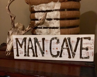 Routed Man Cave Sign