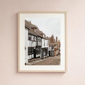 English Cobbled street photography prints Wall Art England Rustic Home Decor English Arhcitecture British photo Leighton Buzzard