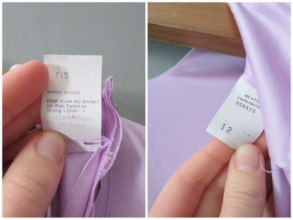 Vintage Purple Jumpsuit // Ruffled Polyester Pant… - image 9