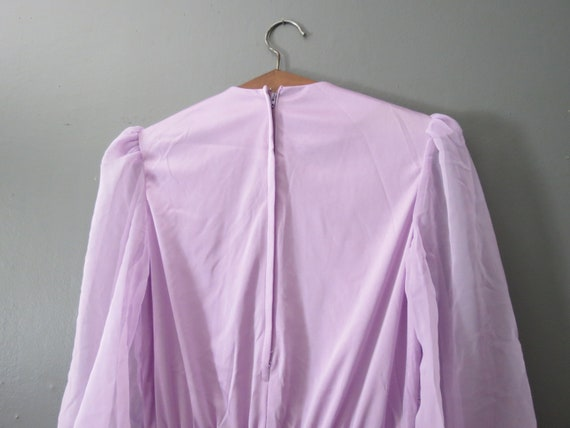 Vintage Purple Jumpsuit // Ruffled Polyester Pant… - image 6