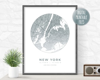 Favourite City Map Custom Poster, Printable digital art, Instant download high-resolution files, Personalized gift for friend father mother