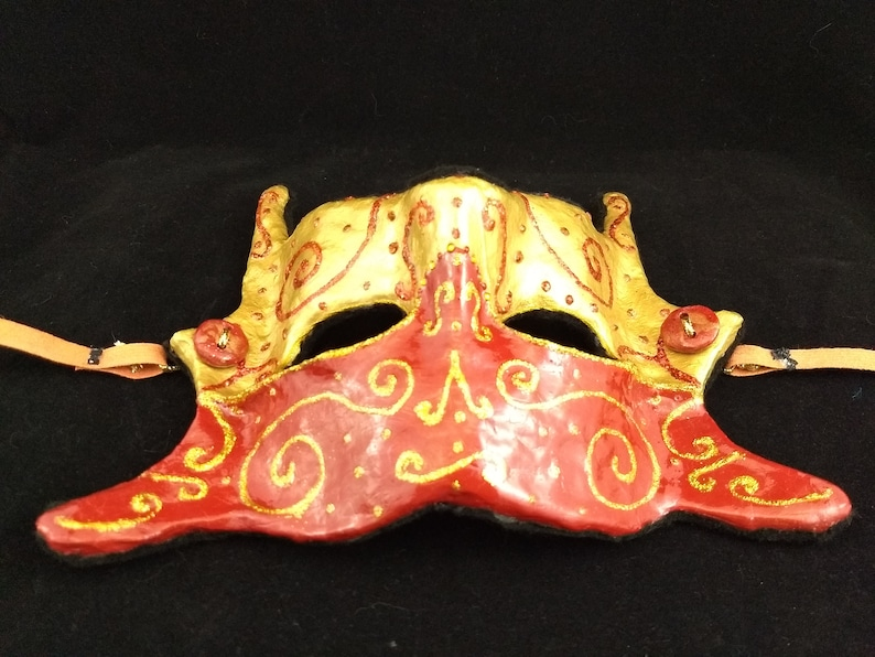 Christmas Costume Party Masquerade Ball Christmas Masquerade Mask Women/'s Men/'s Handmade Paper Mache