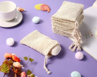 Exfoliating soap pouch