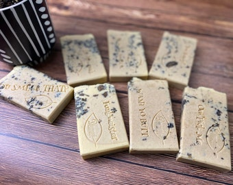 """Huge Silk and African Black soap shea + cocoa butter soaps natural soap """"Lemon Cookies & Cream handmade homemade natural soap"""