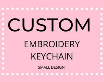 Custom Embroidery Keychain