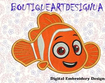 Fish Applique Embroidery Designs, Fish Embroidery Designs, Fish design, machine embroidery