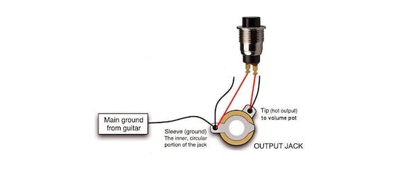 Guitar KillSwitch Cutoff BLACK Momentary Push Button 10MM | Etsy | Guitar Killswitch Wiring Diagram |  | Etsy