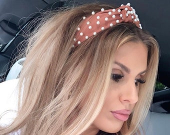 Pretty in Pearls Topknot Headband for Women