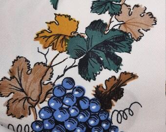 Silk scarf with wine motif