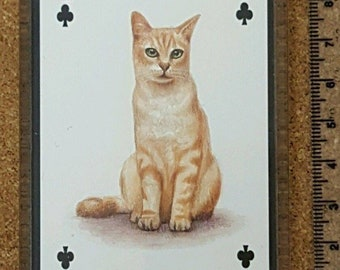 Fridge Magnet Playing Card Cat Breeds Of The World Cats Brown Tabby