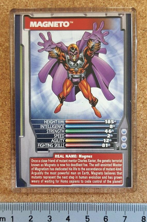 Marvel Comic Heroes Villains Top Trumps Card Fridge Magnet Invisible Woman