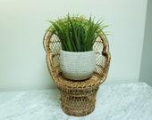 Wicker Plant Throne