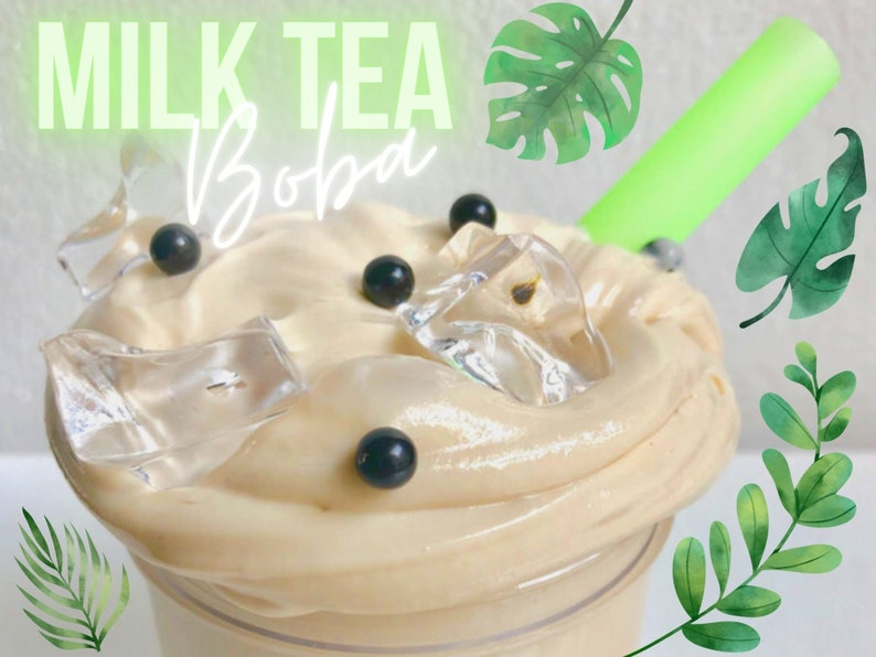 Milk Tea Boba  Glossy Drink-Inspired Slime image 0