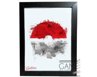 14232b3d4f Abstract Splatter Pokemon Art Print - Framed/Unframed Gaming Poster -