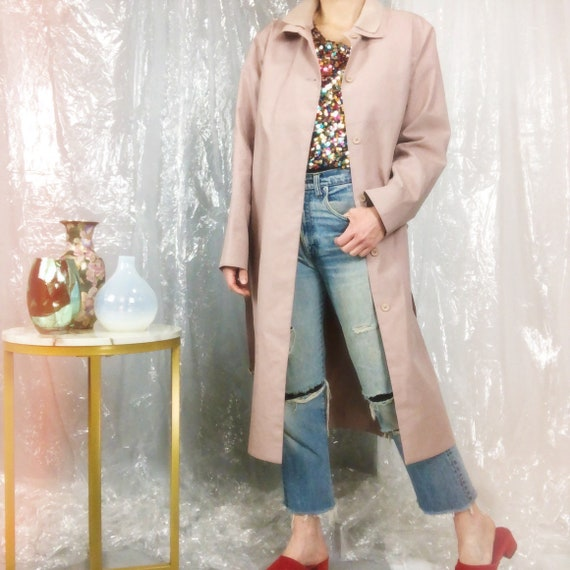 Lacoste Blush Nude Pink Trench Coat Jacket