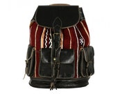 Genuine Leather Backpack Handmade Backpack With Kilim Authentic And Stylish Bag Women Backpack Daily Leather Backpack Gift Ideas