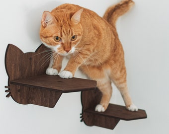 Cat Wall Steps, Cat Wall Furniture, Cat Shelves, Catsmode Steps, Cat Furniture, Cat Walk Wall, Gift for Cat Lover, Cat Owner Christmas Gift