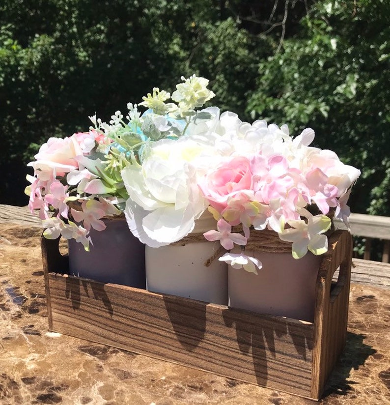 Rustic Mason Jar Table Decor