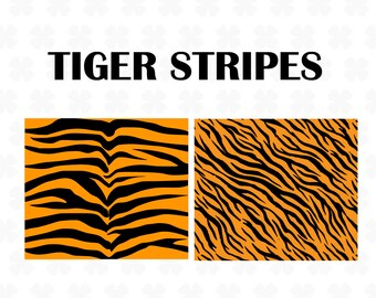 photo about Tiger Stripe Stencil Printable called Tiger stripe stencil Etsy