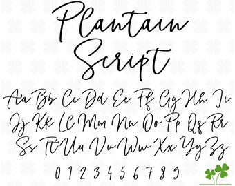 Modern cursive font | Etsy