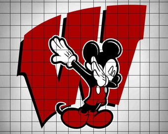 1e4226ef549d Mickey Mouse Dab Wisconsin Badgers SVG,College Football Logo Svg,Svg  Files,Cut files,Vector Cut File,American Football SVG,Files for Cricut