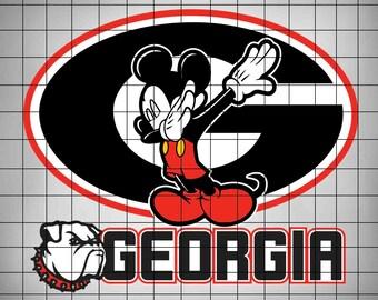 ba9fa9ac547e Mickey Mouse Dab Georgia Bulldogs SVG,College Football Logo Svg,Svg  Files,Cut files,Vector Cut File,American Football SVG,Files for Cricut