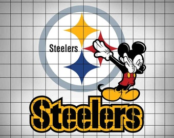 1ea93d3f4079 Mickey Mouse Dab Steelers SVG,Football Logo Svg,Svg Files,Cut files,Vector  Cut File,American Football SVG,Files for Cricut,Silhouette Cameo