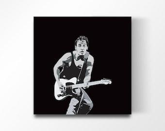 BRUCE SPRINGSTEEN I Music art, Minimalist art, Downloadable print, Printable modern, Black, Poster, Music Poster, Vector Art