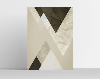 ALPS I Geometric art, Abstract wall art, Scandinavian art, Home decor, Mountains print, Wall prints, Modern art