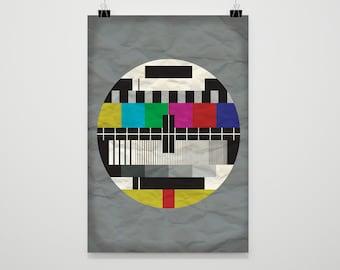 MONOSCOPE I Minimalist geometric art, Downloadable print, Printable modern, Abstract geometric painting, Minimal contemporary art, TV 70s