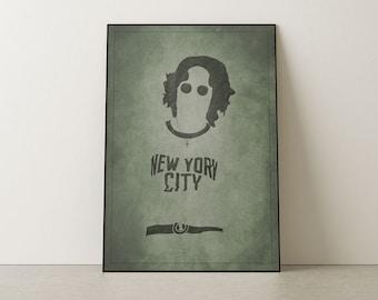 JOHN LENNON I Music art, Minimalist art, Downloadable print, Printable modern,Grunge poster, Music Poster, Vector Art