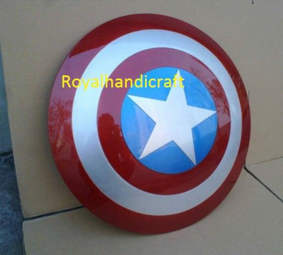 Avengers marvels Shield 24 Medieval 18 gauge steel Replica HAND MADE CAPTAIN America