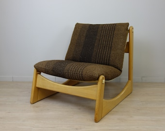 1 (v.5) Lounge Armchair by Carl Straub in Nature Oak 70s Seventies Space Age Oak Modular Sofa 2 - 3 - ... Seater