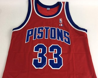 a84660423bf Detroit Pistons Jersey Grant Hill Jersey Vintage Jersey Pistons Jersey Boho  Champion Jersey Size 44