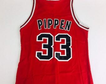 9dd654cd9e7 Vintage Scottie Pippen Jersey Vintage Chicago Bulls Jersey NBA Jersey Red  Jersey Hip Hop Rap Bulls Jersey NBA Jersey Basketball Jersey