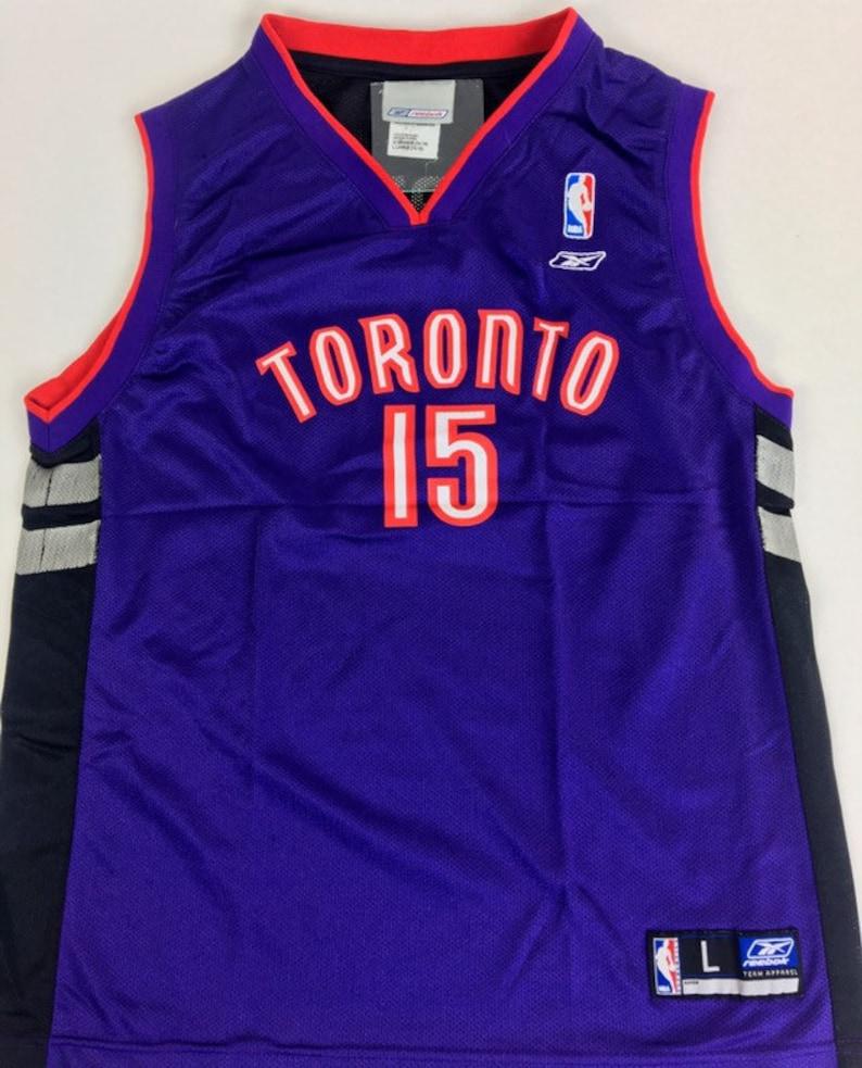 pretty nice dbe67 2263a Toronto Raptors Jersey Vince Carter Jersey Vintage Toronto Raptors Jersey  Purple Jersey Youth L 14-16