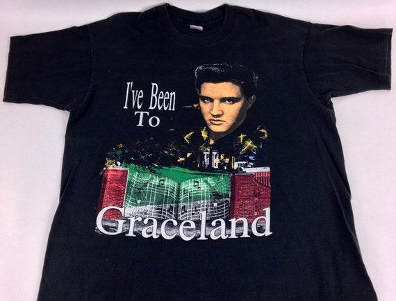 Vintage Elvis shirt 90s tee Welcome to Graceland B