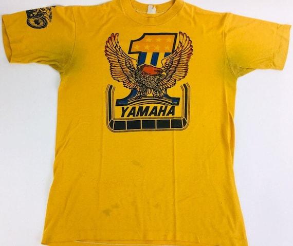 Vintage Yamaha Shirt 90s shirt Yellow tee Motorcyc