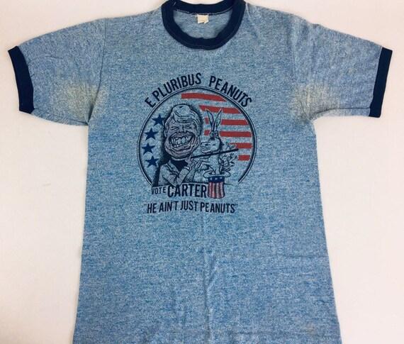 Vintage Jimmy Carrter shirt 1970s Tee 70s shirt Bl