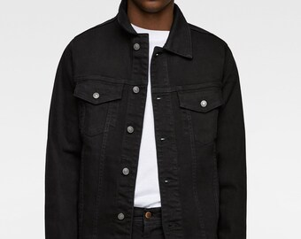 094fcb43c Black denim jacket | Etsy