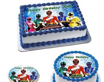 Fabulous Power Rangers Cake Etsy Personalised Birthday Cards Veneteletsinfo
