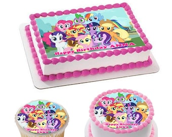 Wondrous My Little Pony Cake Topper Etsy Funny Birthday Cards Online Alyptdamsfinfo