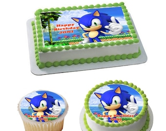 Pleasant Sonic The Hedgehog Cake Topper Etsy Funny Birthday Cards Online Bapapcheapnameinfo