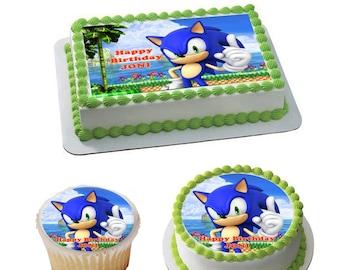 Miraculous Sonic The Hedgehog Cake Topper Etsy Funny Birthday Cards Online Elaedamsfinfo