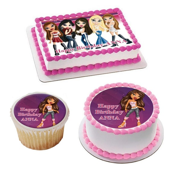 Groovy Party Supplies Gymnastics Birthday Cake Topper Edible Paper Sugar Personalised Birthday Cards Bromeletsinfo